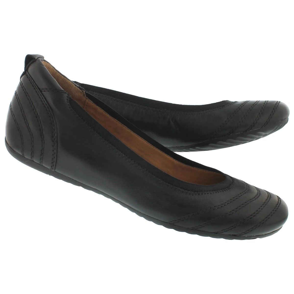 Lds Dasha black ballerina flat- wide