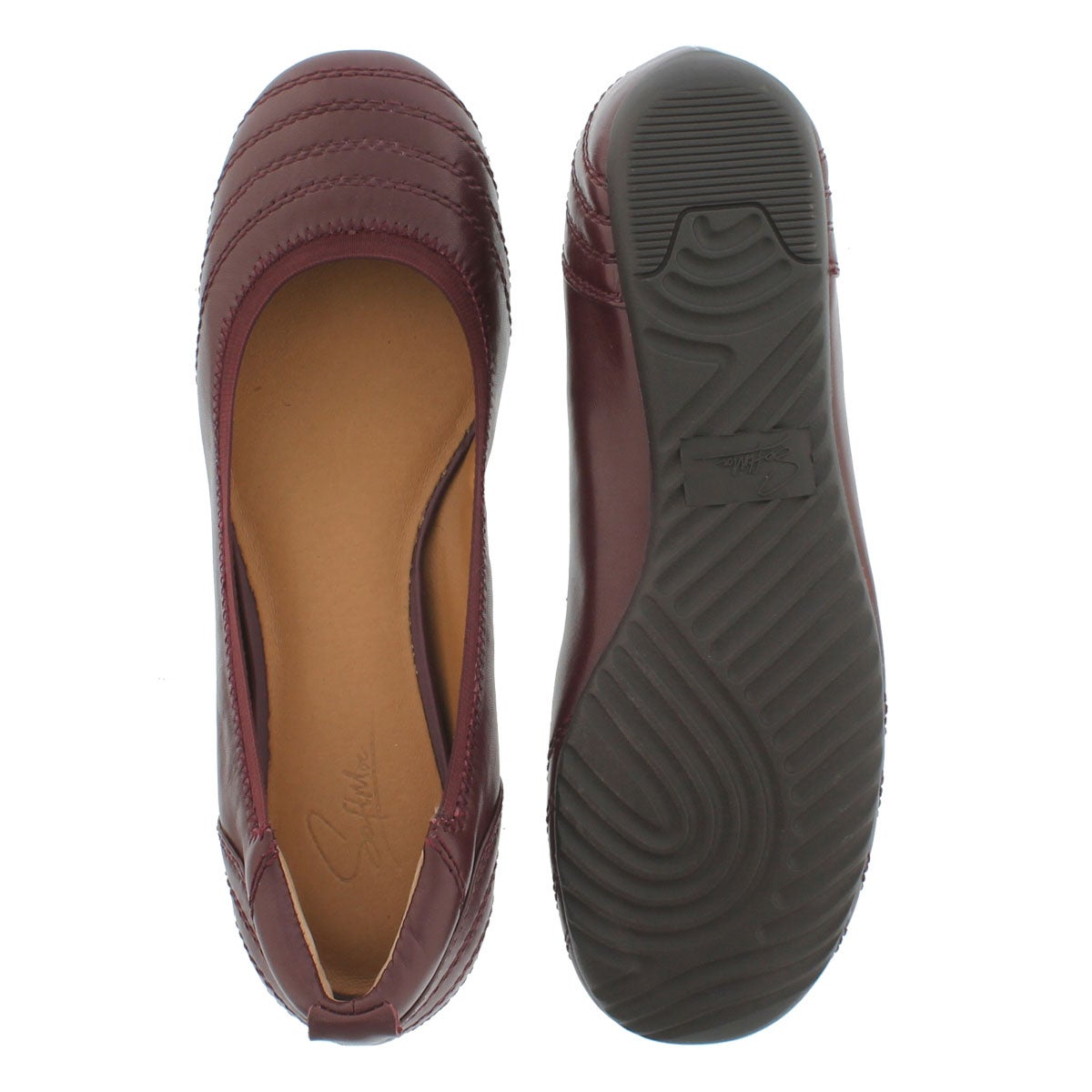 Lds Dasha burgundy ballerina flat-wide