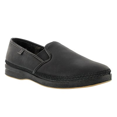 Mns Davenport black closed back slipper