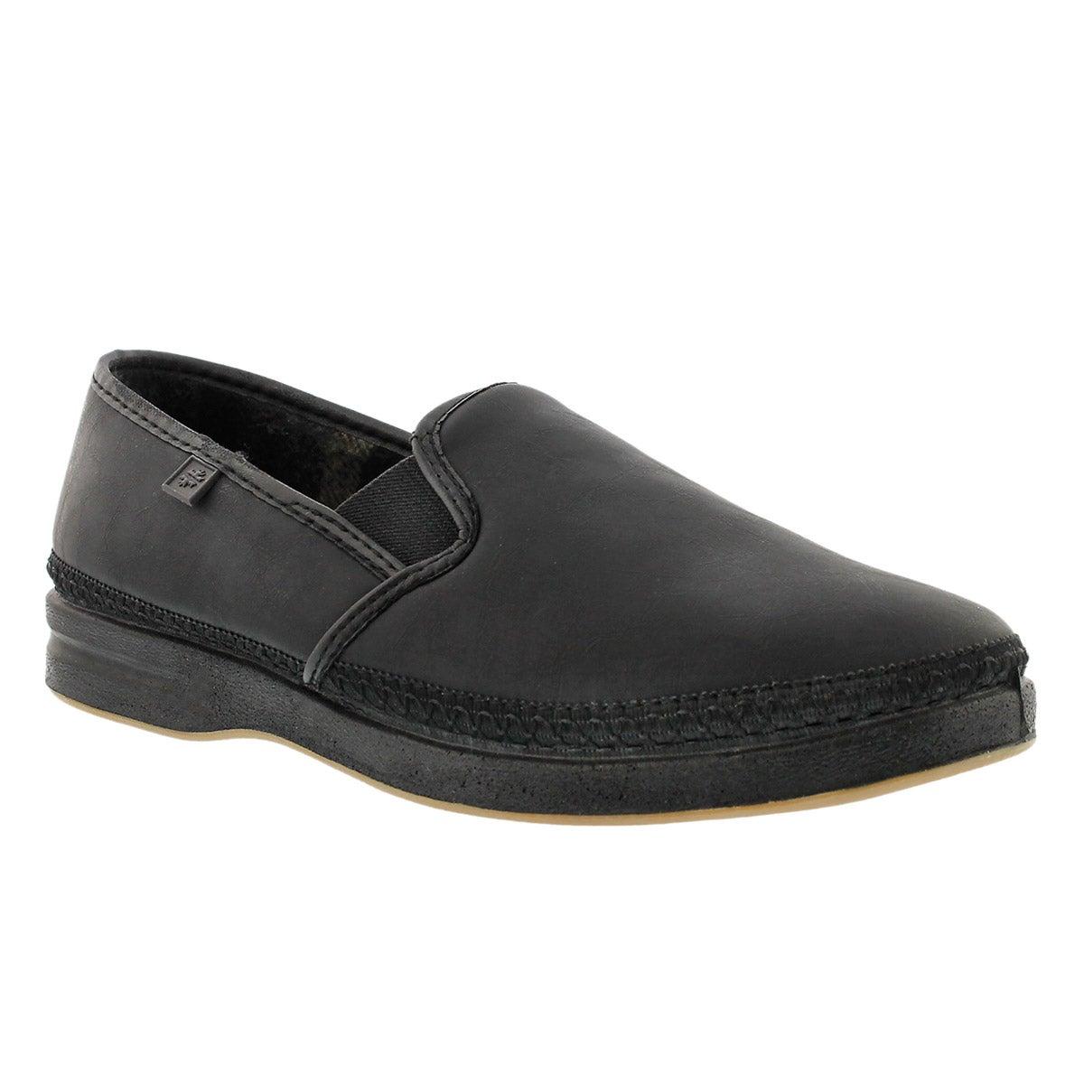 Mns Davenport black closed back slipper