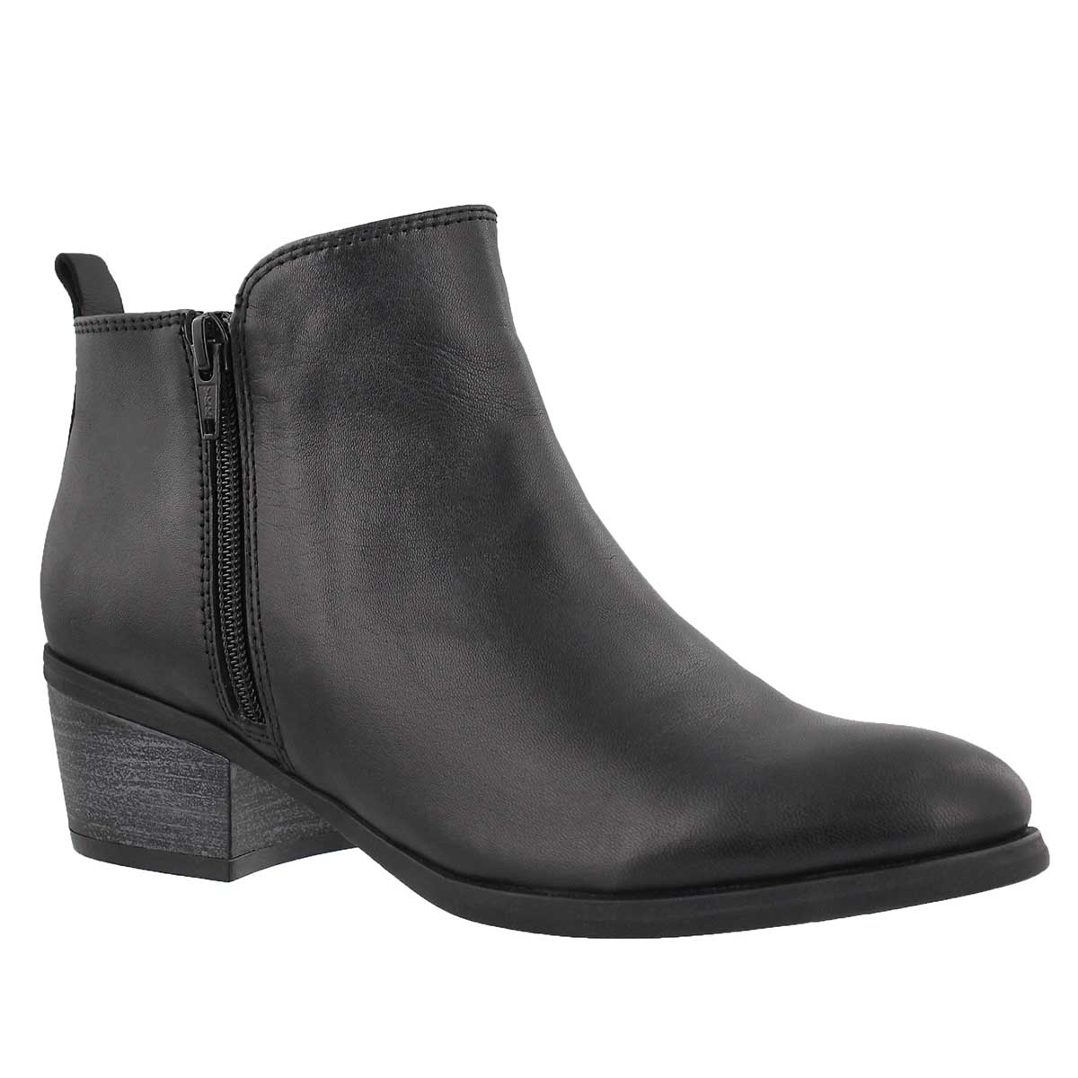 Lds Davina black double side zip bootie
