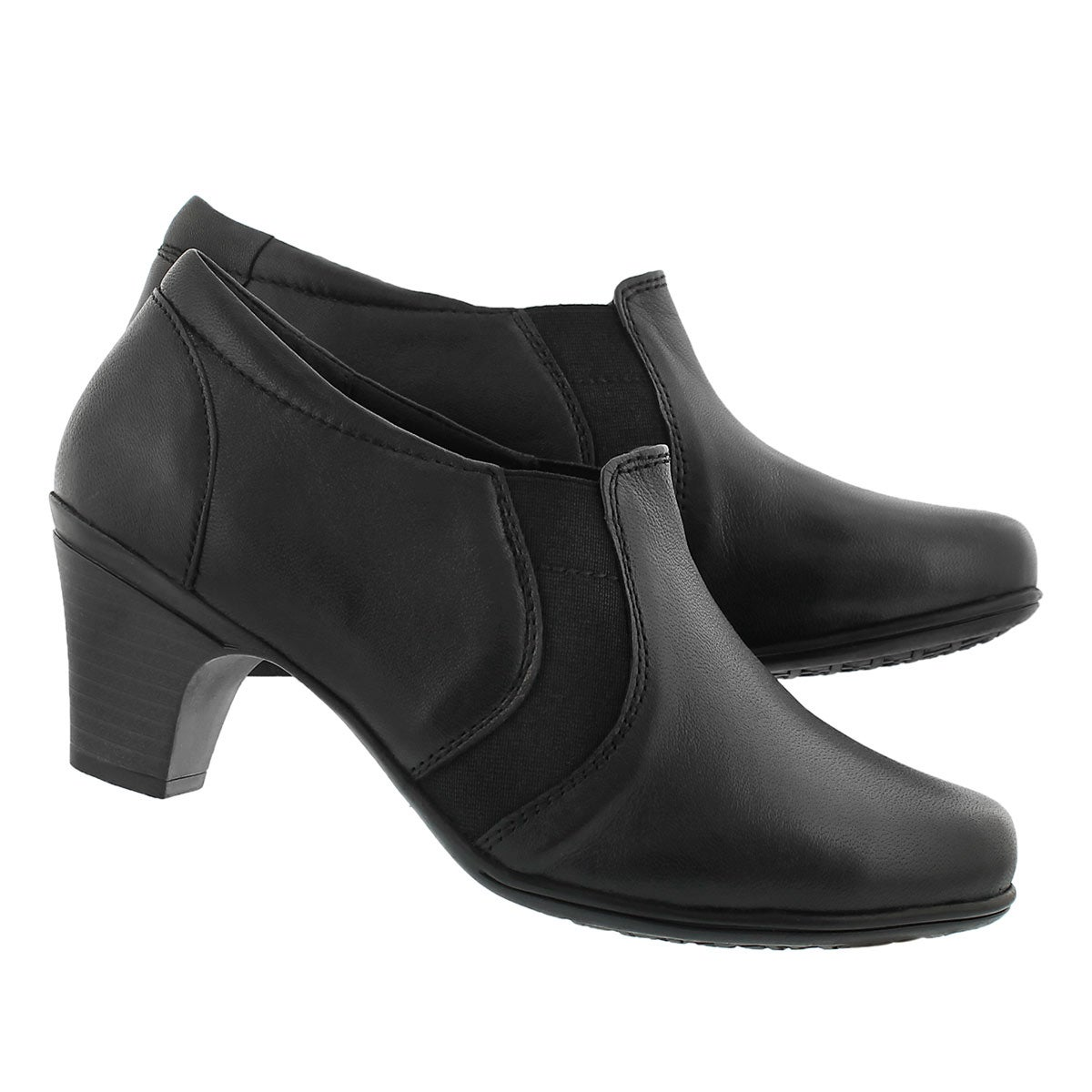 Lds Daz black low dress heel