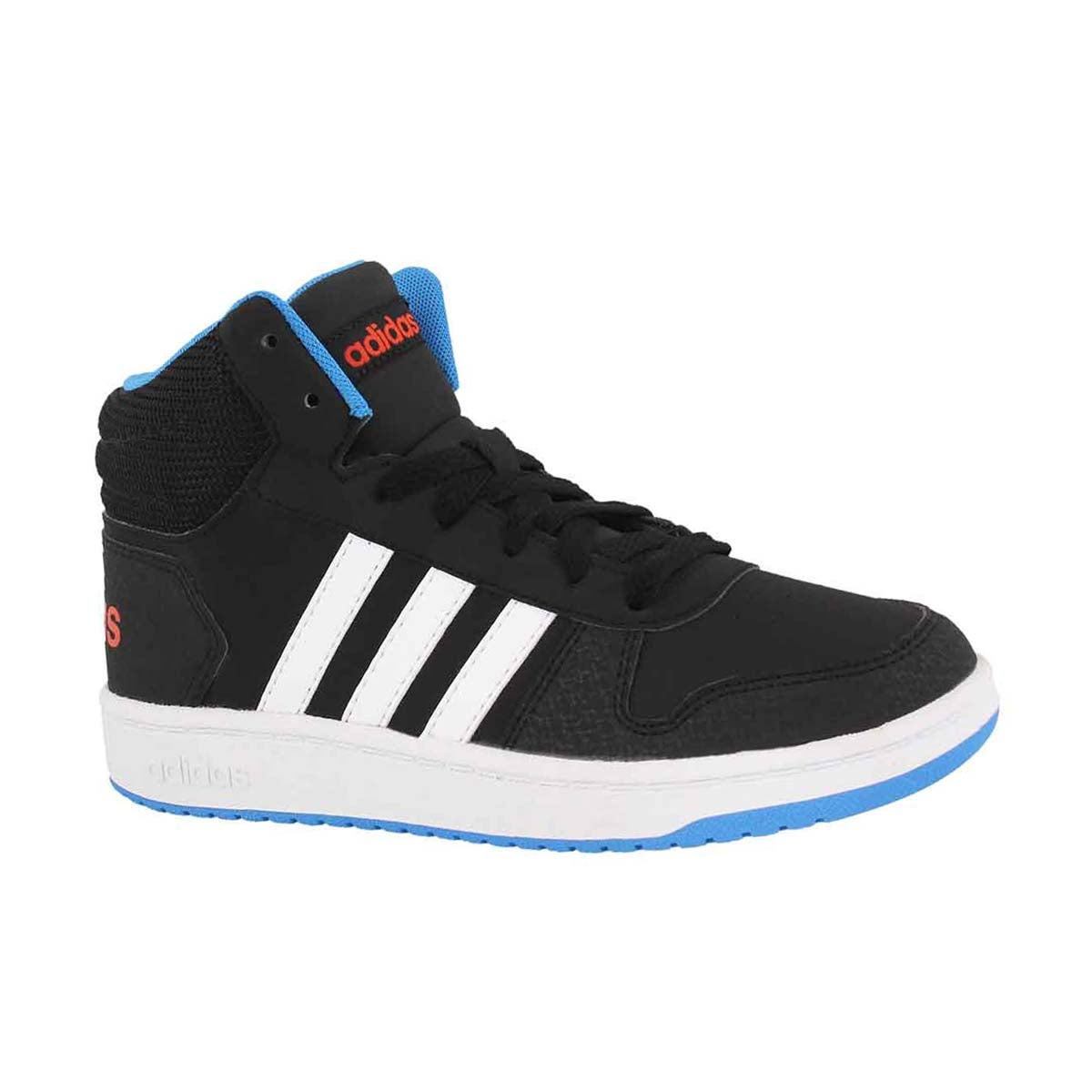 Boys' V5 HOOPS MID 2.0 black/blue sneakers