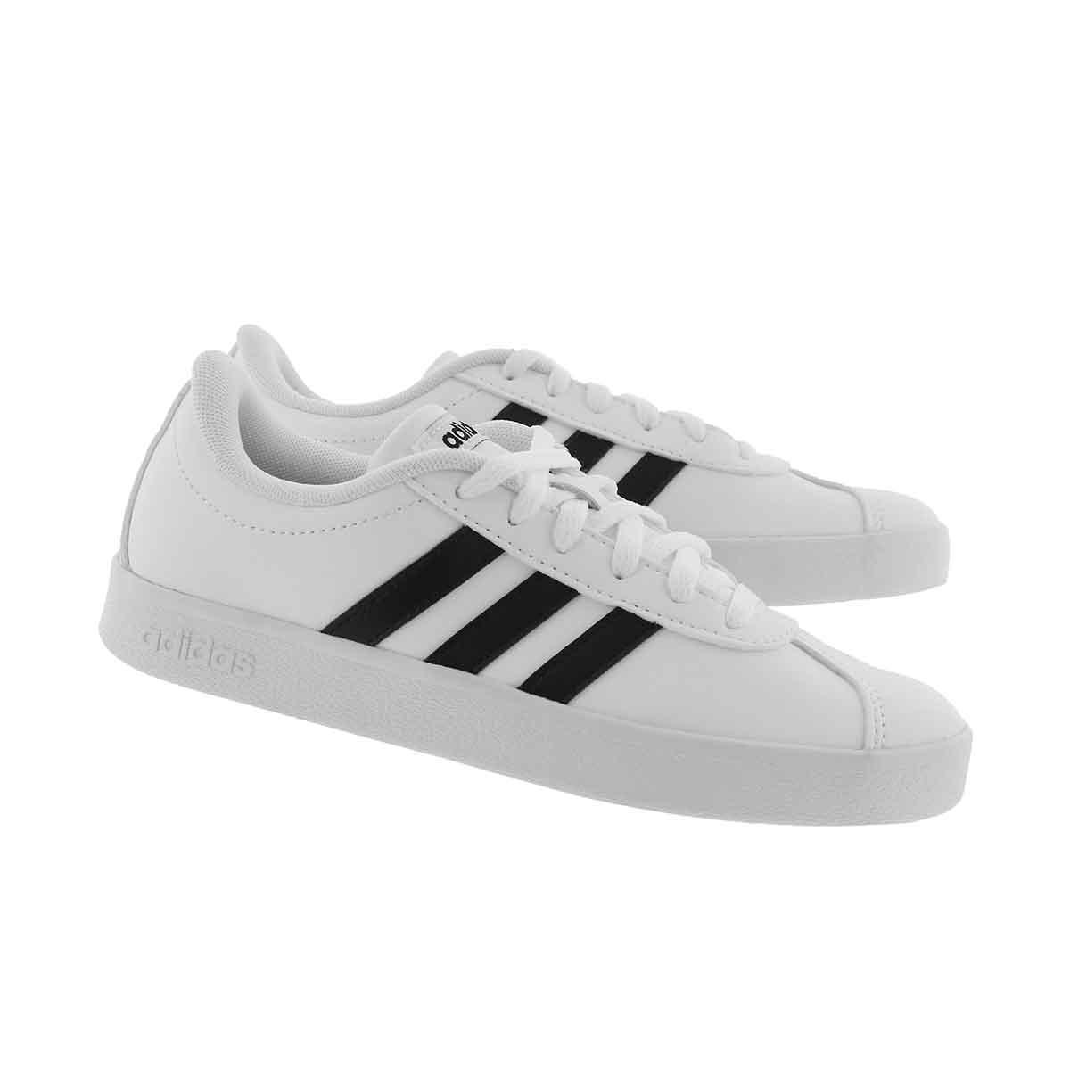 Chlds VL Court 2.0 wht/blk sneaker