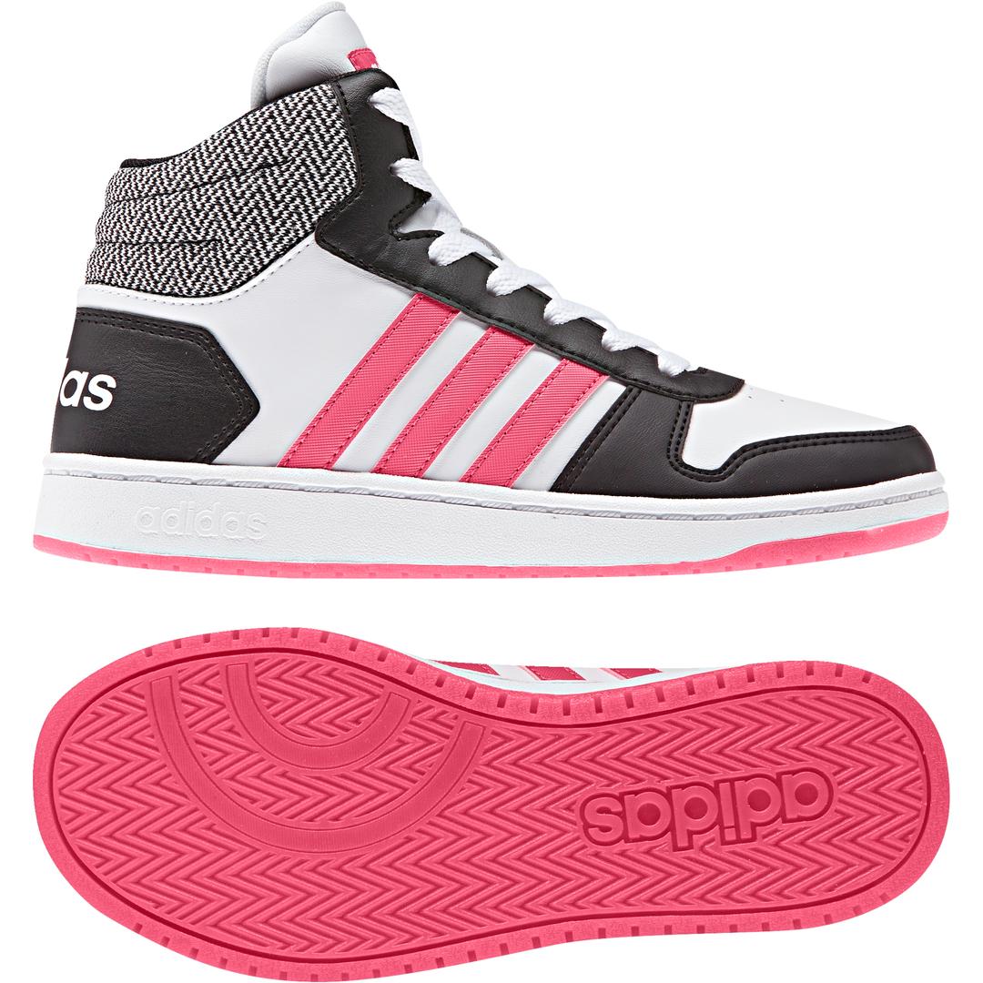 Grls V5 Hoops Mid 2.0 wht/pnk/bk sneaker