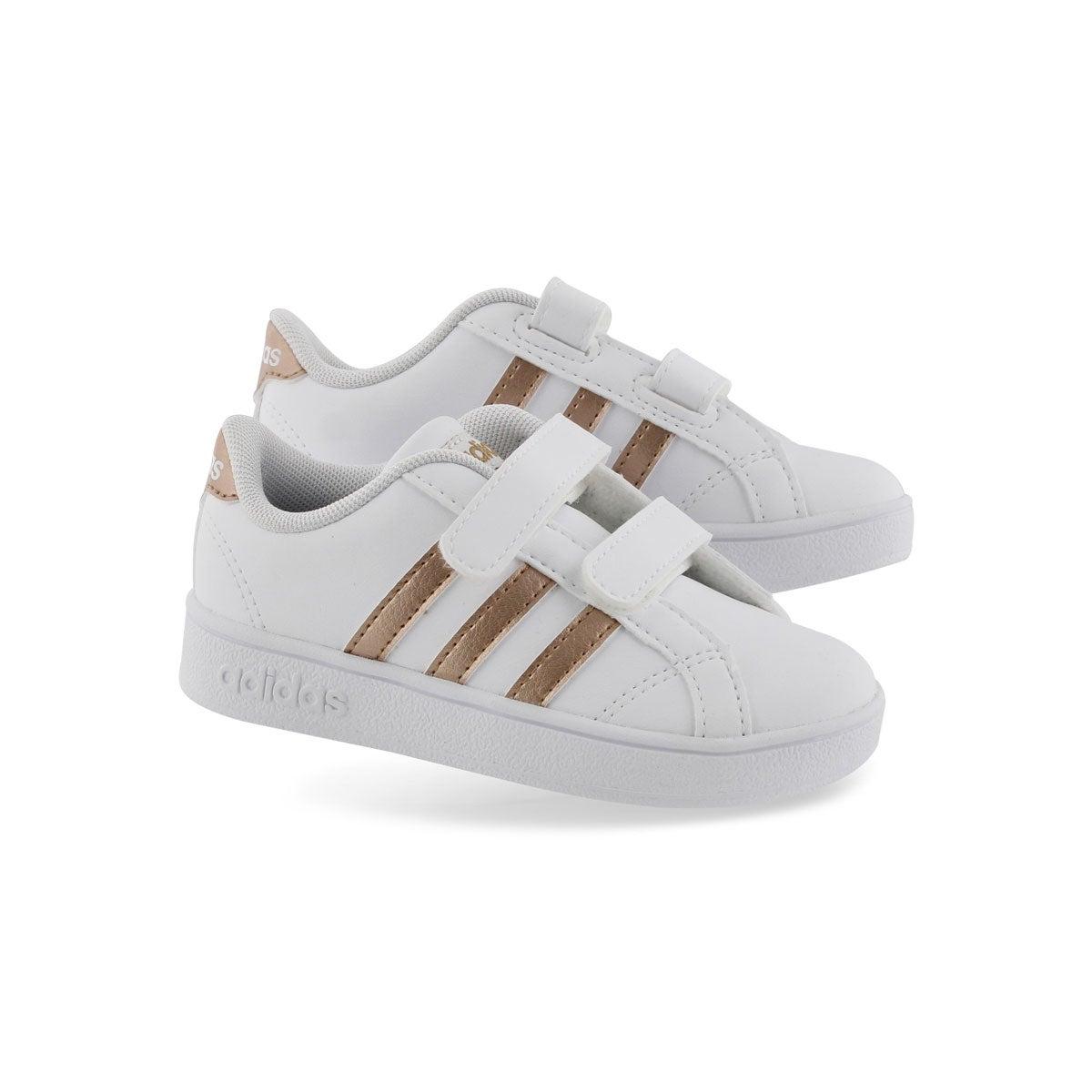 Inf Baseline CMF wht/copper sneaker