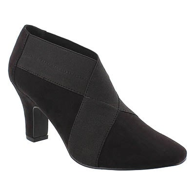 SoftMoc Women's DEANNA black low dress booties