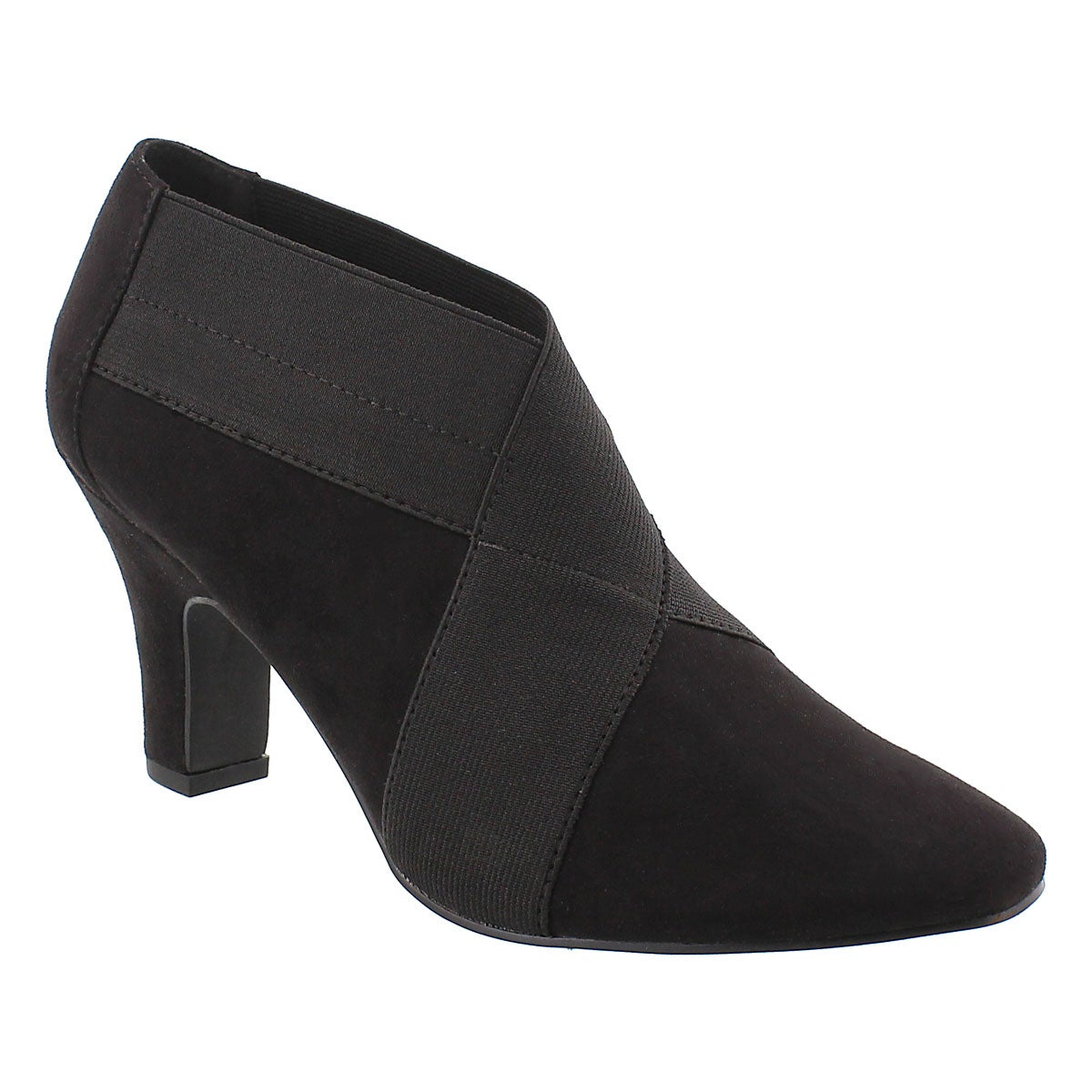 Women's DEANNA black low dress booties