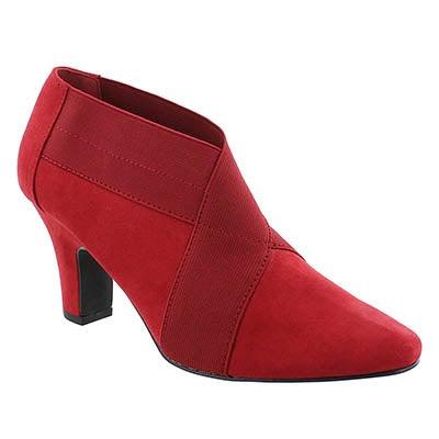Lds Deanna burgundy lo dress bootie