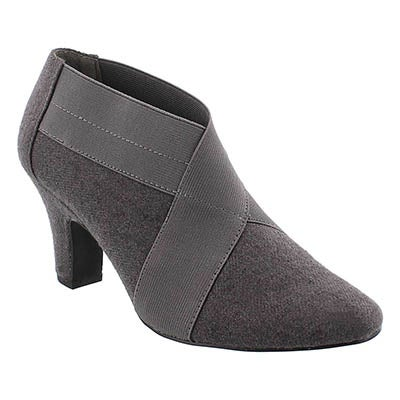 SoftMoc Women's DEANNA grey low dress booties