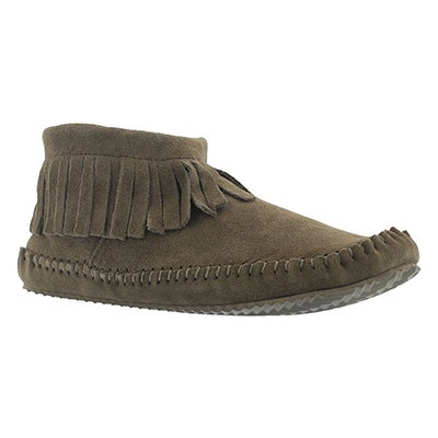 SoftMoc Women's DEBRA II LO birch suede back zip mocassins