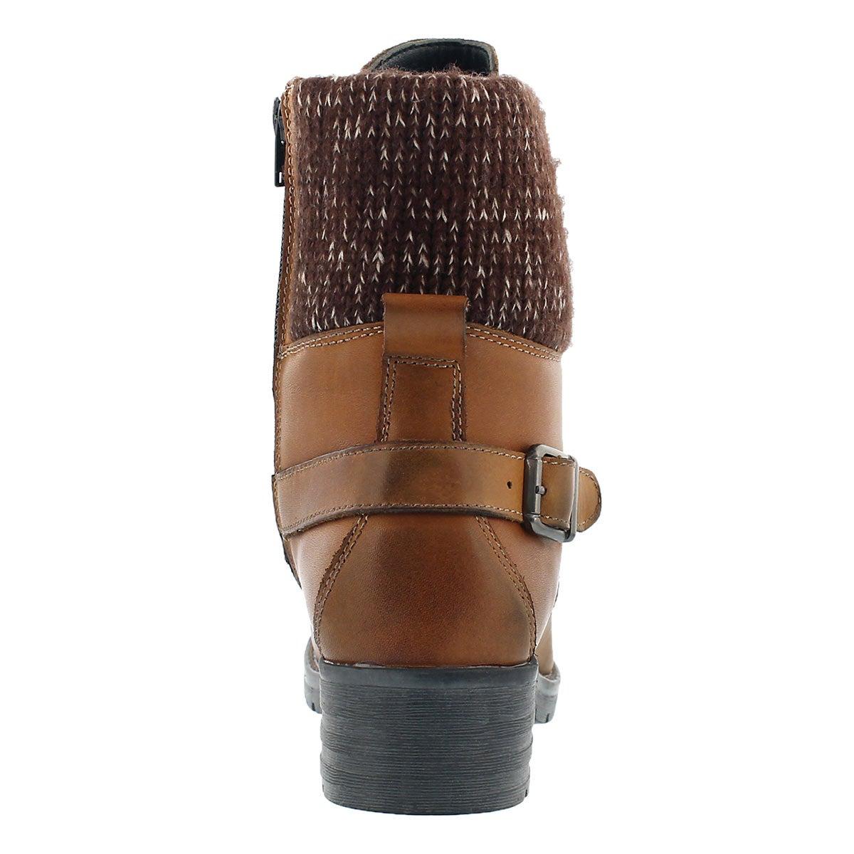 Lds Deedee cgnc knit top combat boot