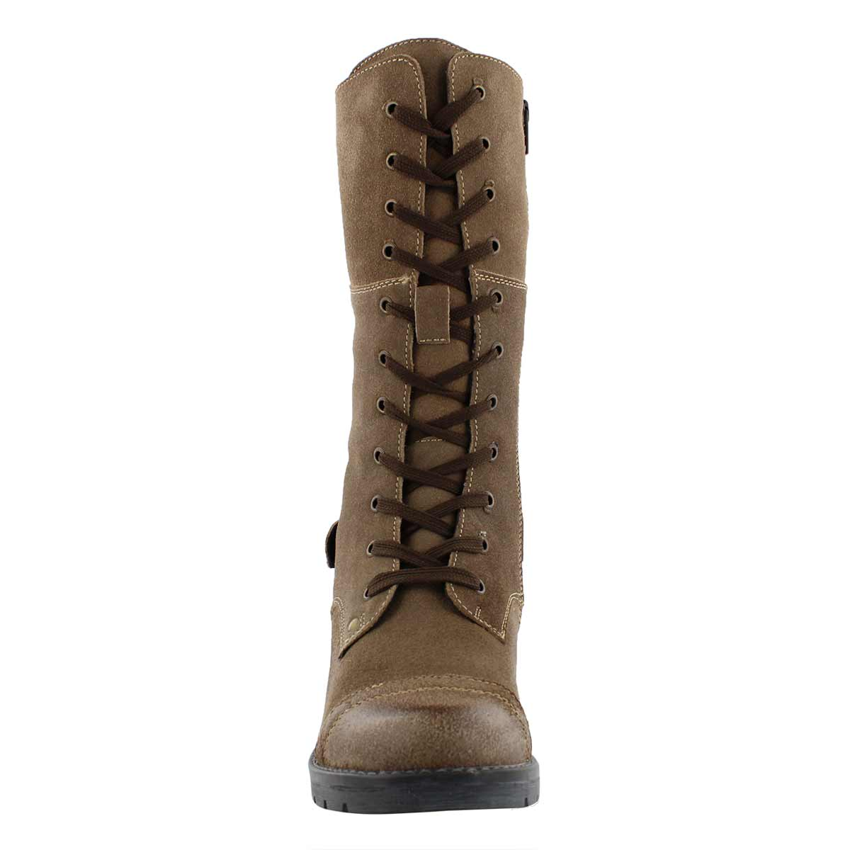 Lds Deedee Tall taupe combat boot