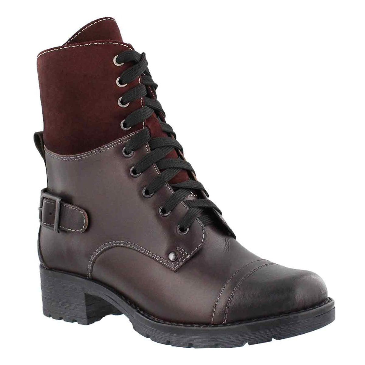Women's DEEDEE 2 burgundy combat boots