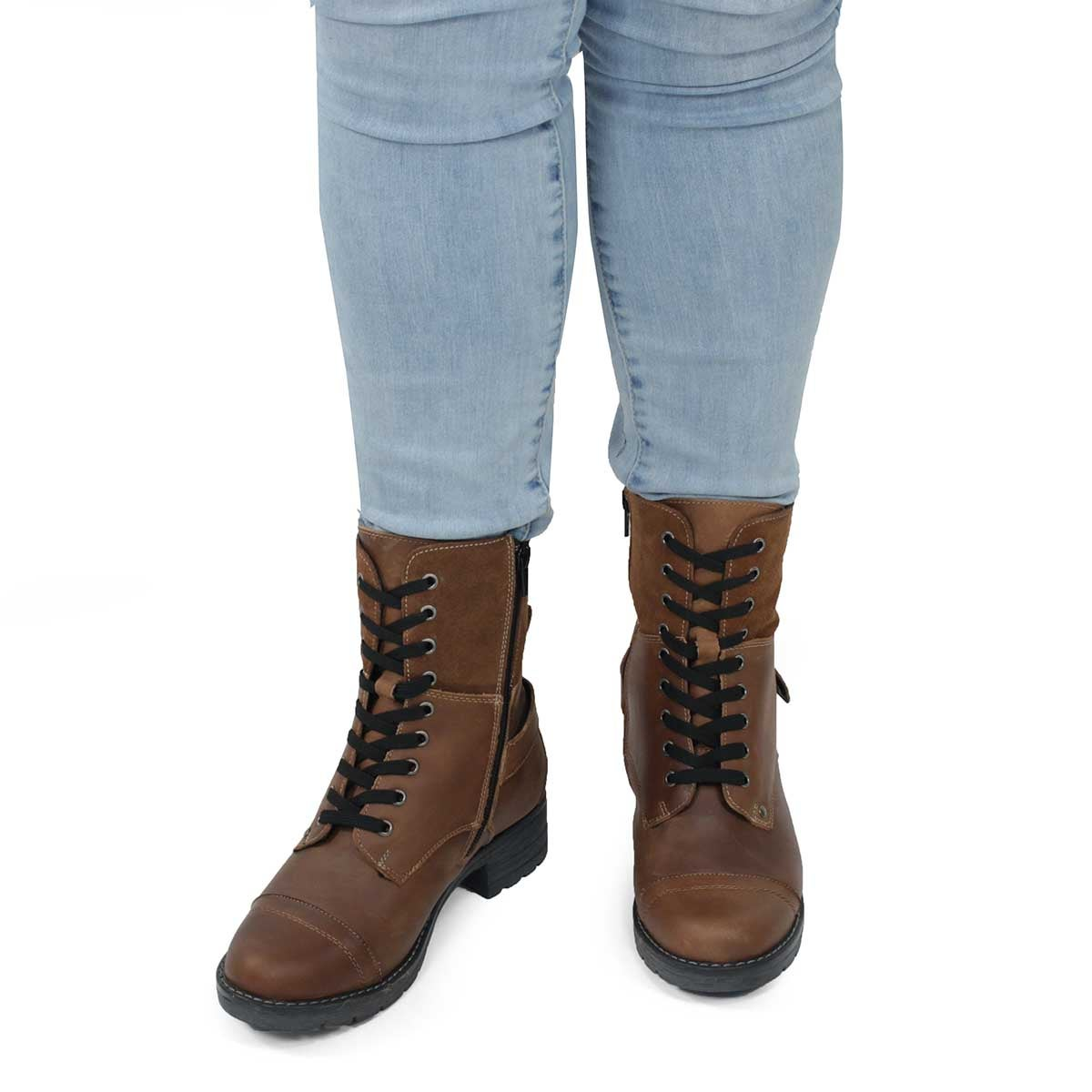 Lds Deedee 2 brown combat boot