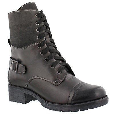Lds Deedee 2 grey combat boot