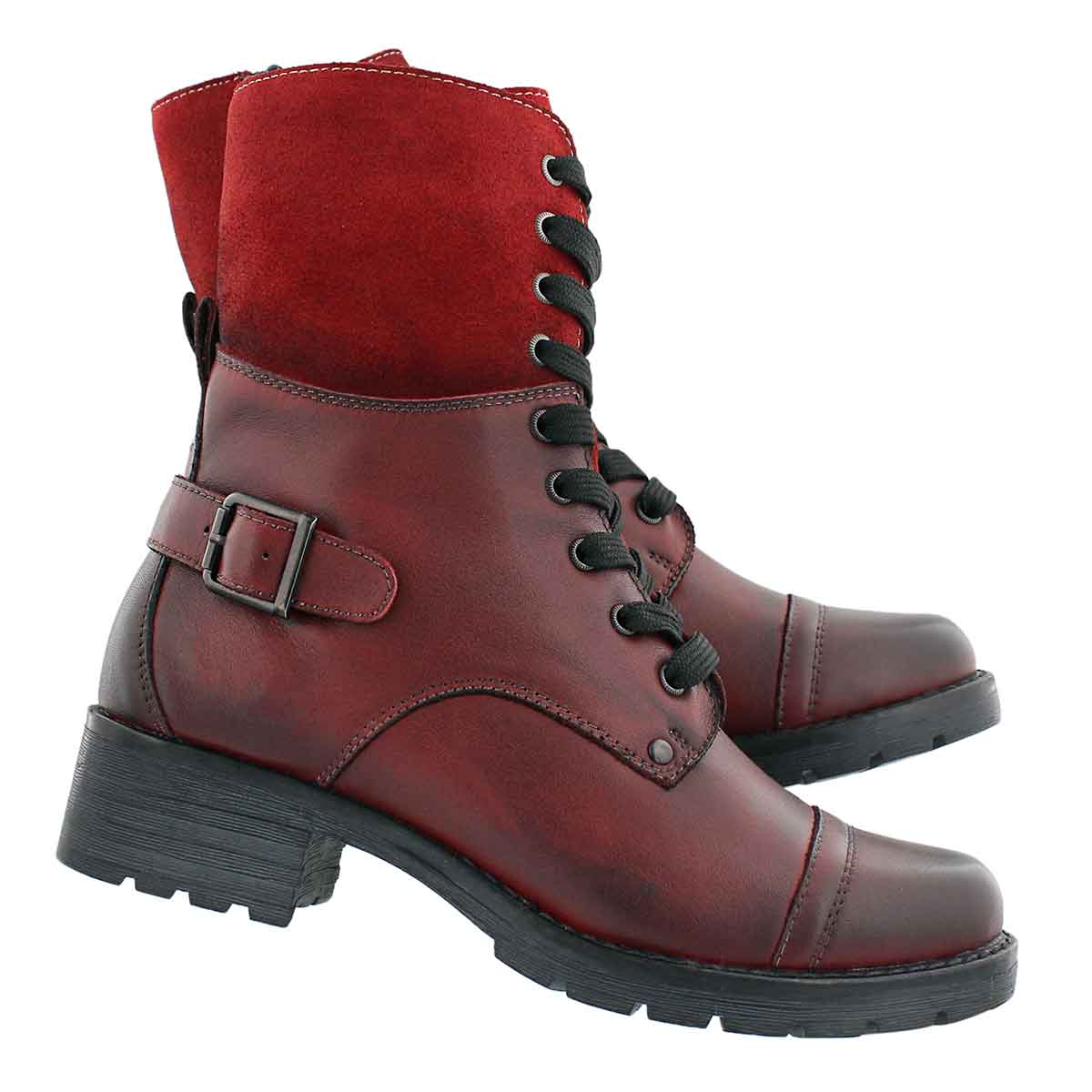 Lds Deedee 2 red combat boot