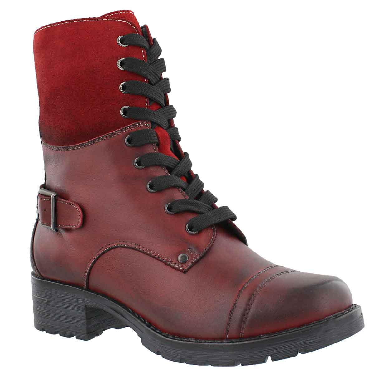 Women's DEEDEE 2 red combat boots