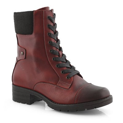 Lds DeeDee 3 red combat boot