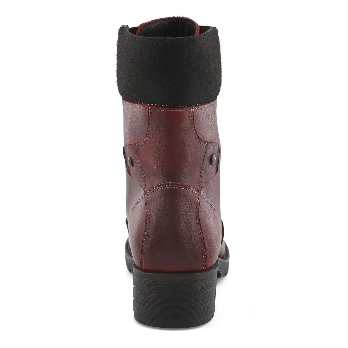 Lds DeeDee 3 red combat boot