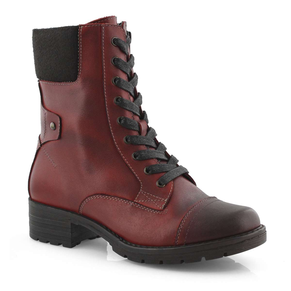 Red Combat Boots For Women