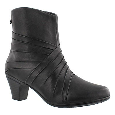 SoftMoc Women's DELILAH black dress booties - Wide