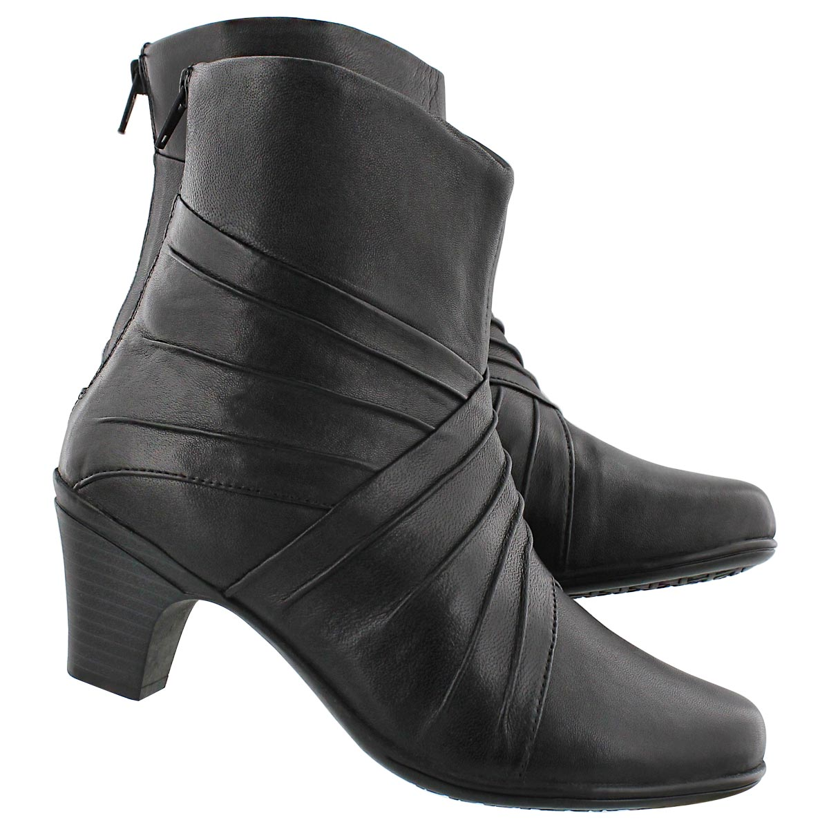 Lds Delilah black dress bootie-wide