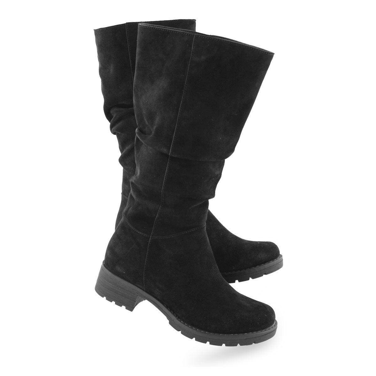 Women's DELORES black casual mid calf boot