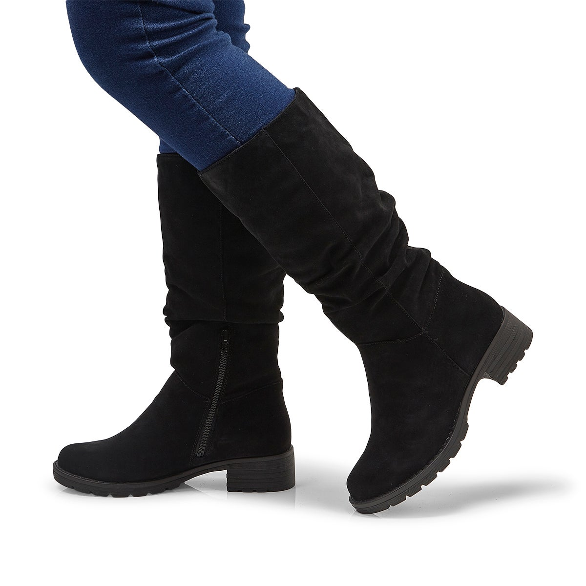 Lds Delores black casual mid calf boot