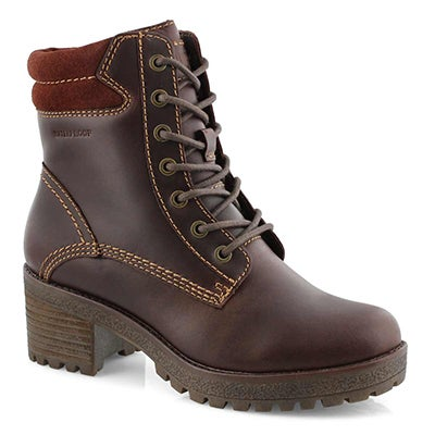 Lds Delson cask wtpf lace up ankle boot