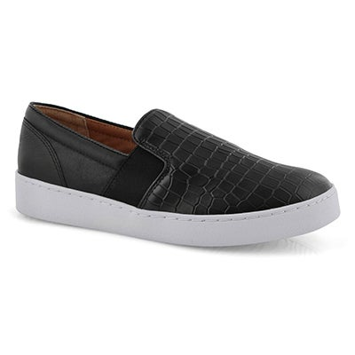 Lds Splendid Demetra blk croc slip on