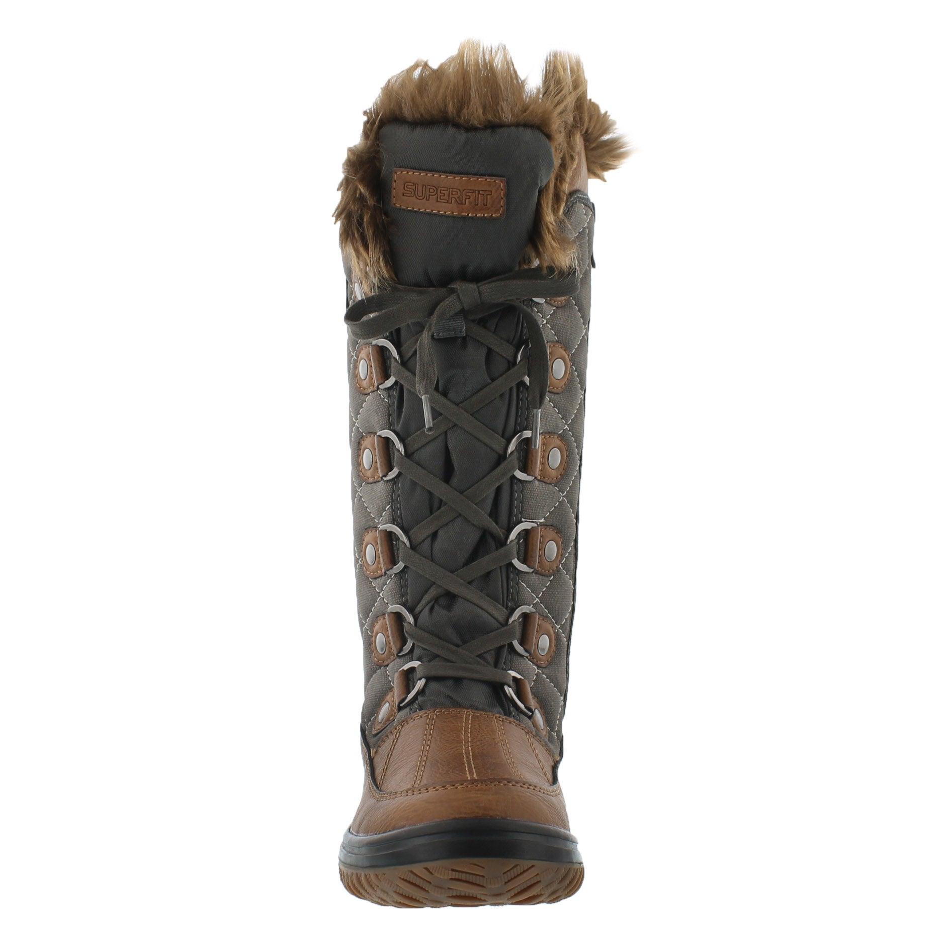 Lds Destiny brndy/mush wtrpf winter boot