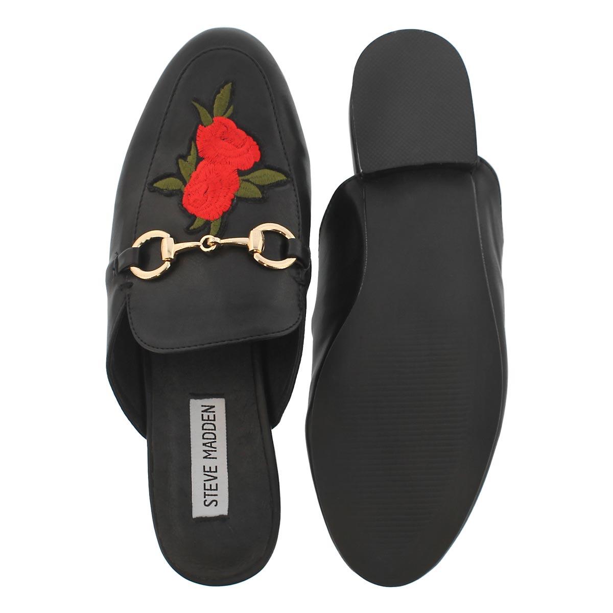 Lds Devyn black slip on dress loafer