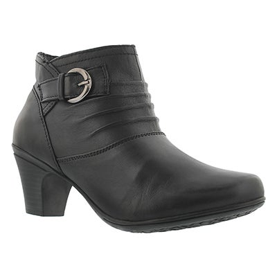 SoftMoc Women's DHARMA black dress booties - Wide