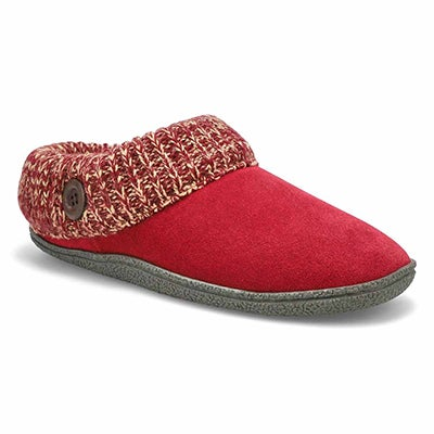 SoftMoc Women's DINI burgundy memory foam slippers