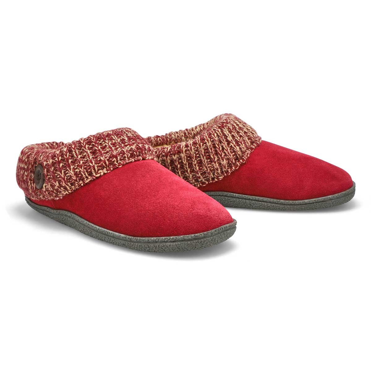 Lds Dini burgundy memory foam slipper