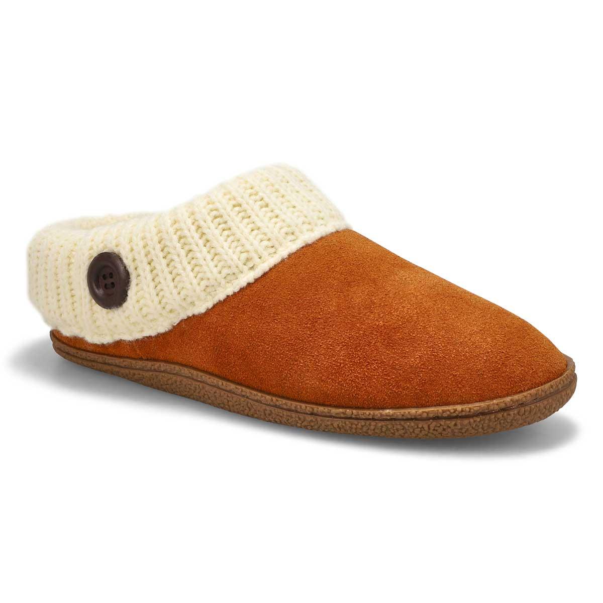 Lds Dini chestnut memory foam slipper