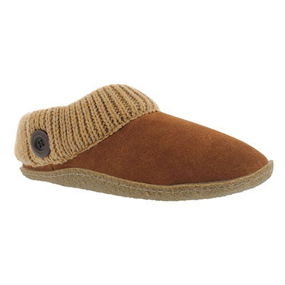 SoftMoc Women's DINI chestnut memory foam slippers