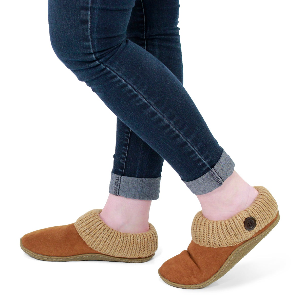 Lds Dini chestnut memory foam slipper