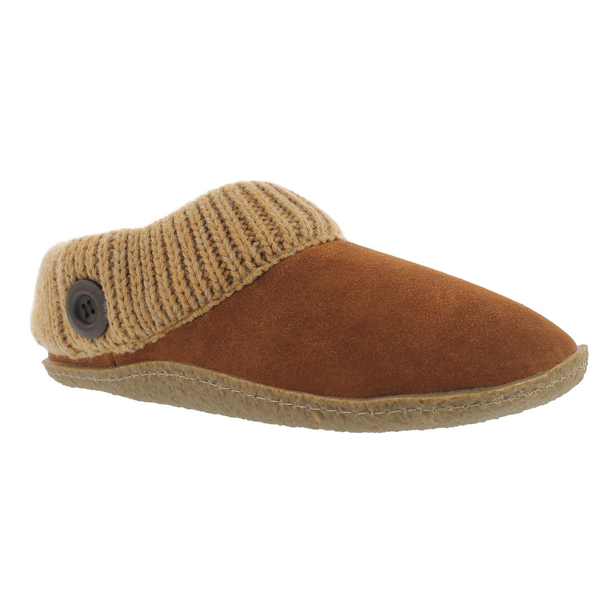 Women's DINI chestnut memory foam slippers