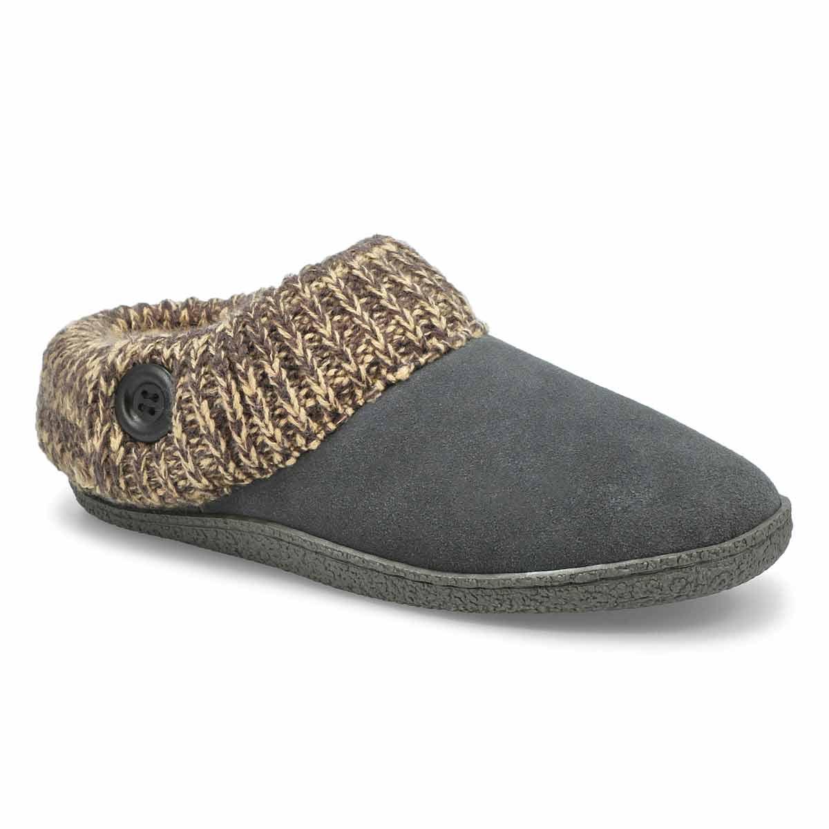Women's DINI grey memory foam slippers