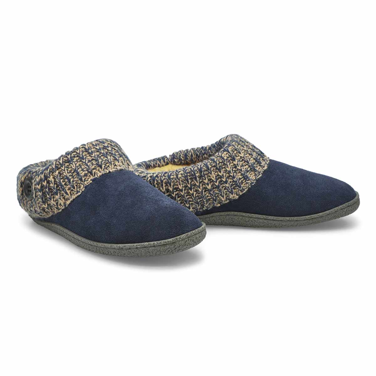 Lds Dini navy memory foam slipper