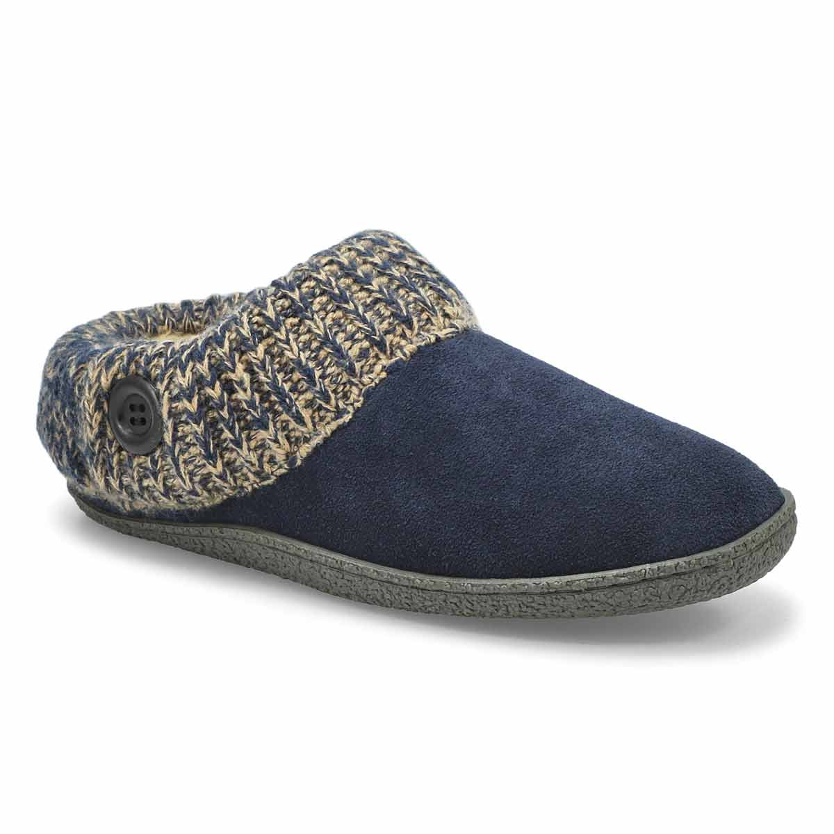 Women's DINI navy memory foam slippers