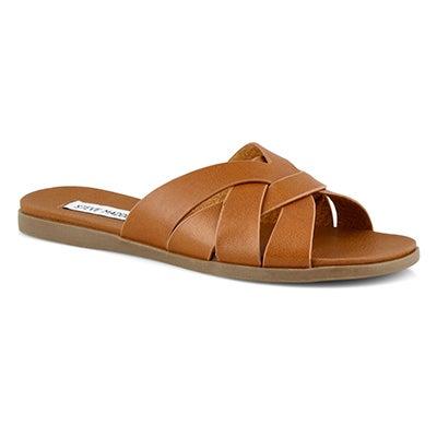 Lds Dinza cognac wedge sandals