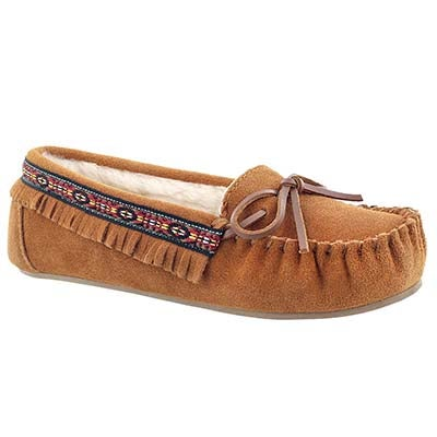 SoftMoc Women's DIXIE II copper suede ballerina moccasins