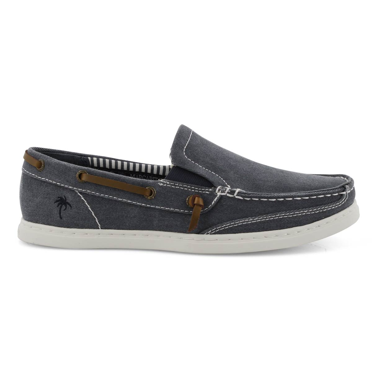 Mns Dock Twill navy casual slip on