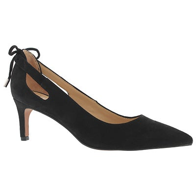 Lds Doe black side dress heel