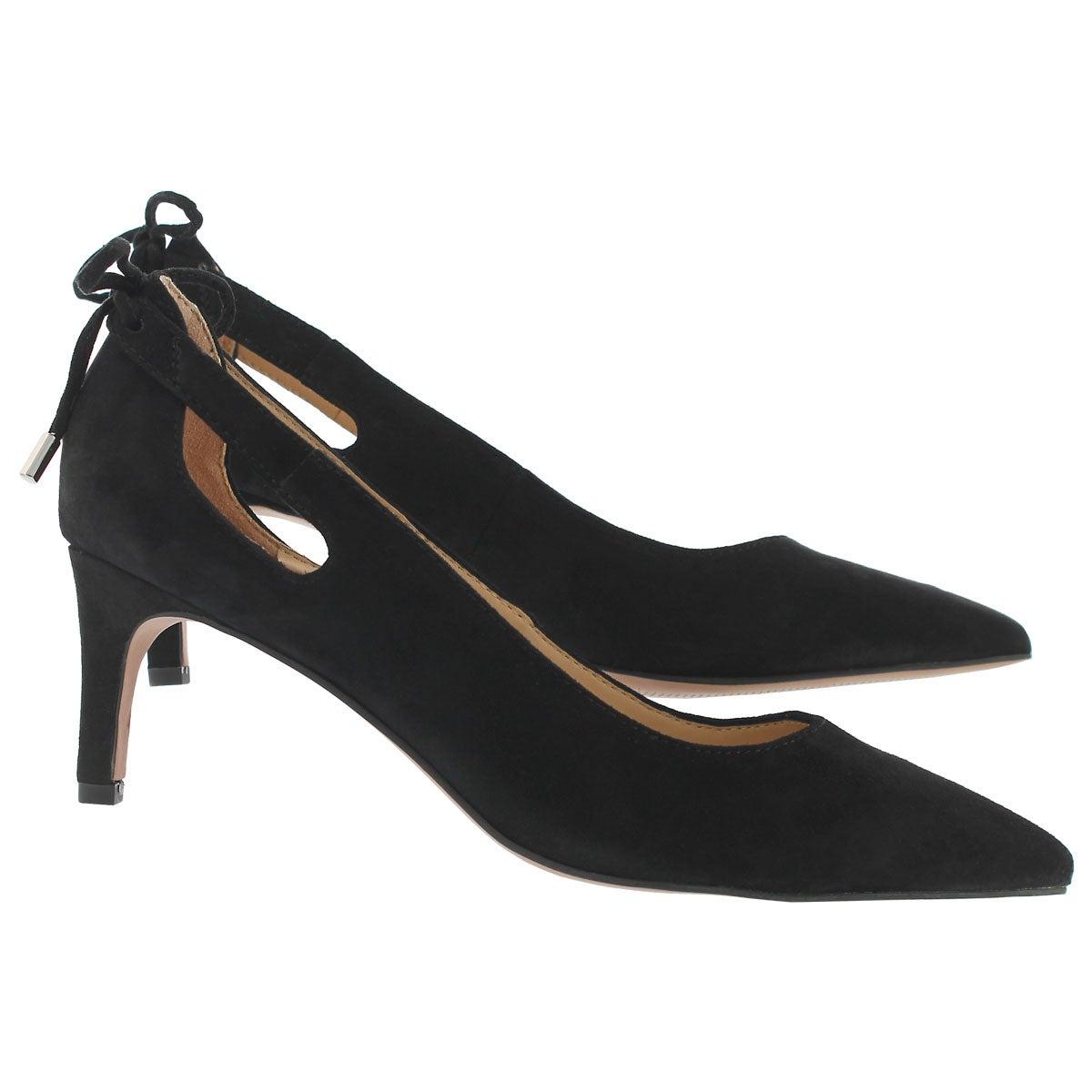 Lds Doe black side dress heel