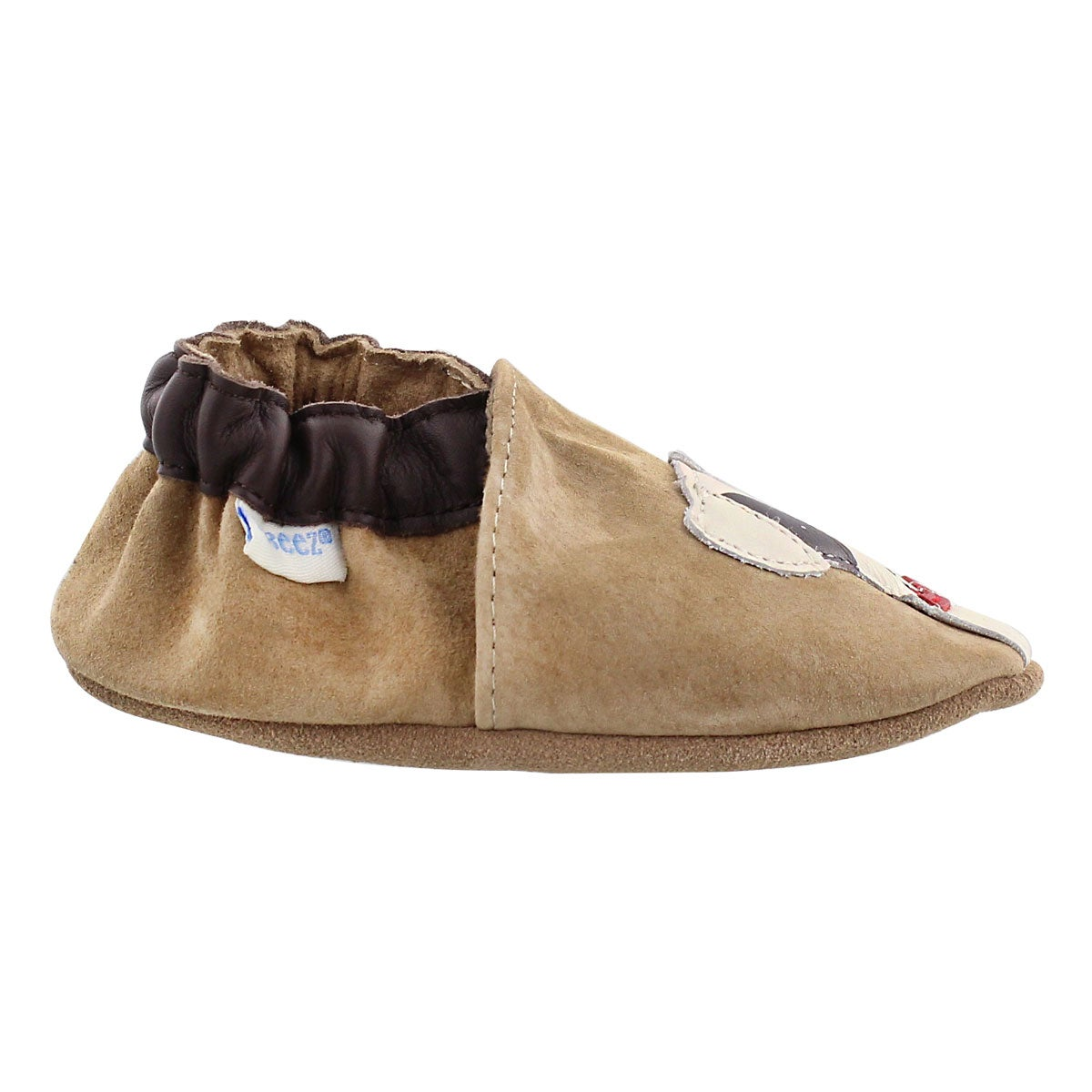 Infs Doggy Dale taupe soft sole slipper