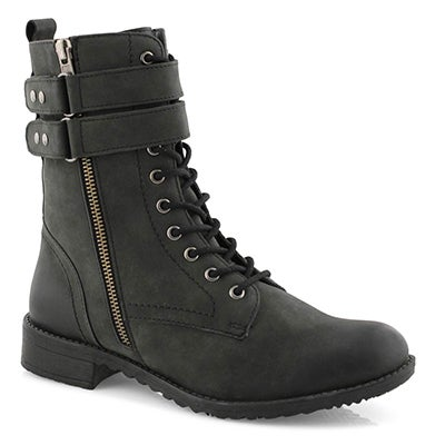 Lds Dolly black combat boot